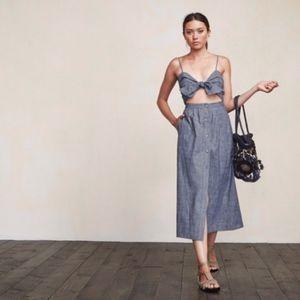 Reformation Riley Dress - Chambray